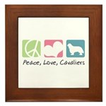 Peace, Love, Cavaliers Framed Tile