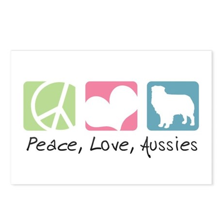 Peace, Love, Aussies Postcards (Package of 8)