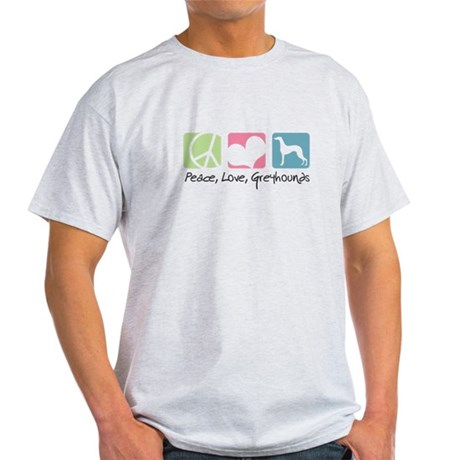 Peace, Love, Greyhounds Light T-Shirt
