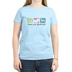 Peace, Love, Greyhounds Women's Light T-Shirt
