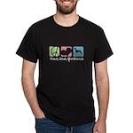 Peace, Love, Greyhounds Dark T-Shirt