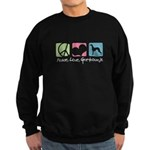 Peace, Love, Greyhounds Sweatshirt (dark)