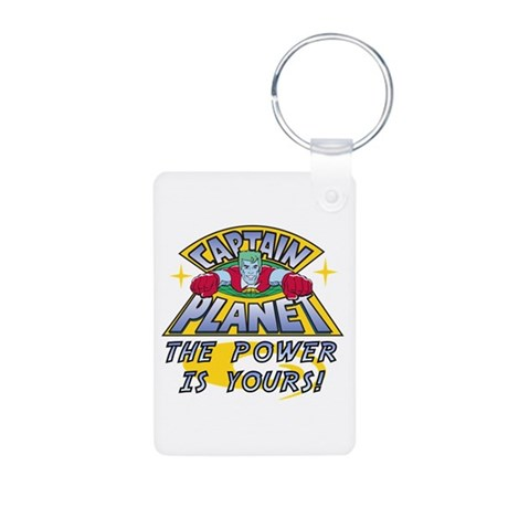 Captain Planet Power Aluminum Photo Keychain