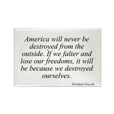 Abraham Lincoln quote 7 Rectangle Magnet