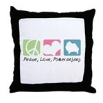 Peace, Love, Pomeranians Throw Pillow