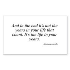 Abraham Lincoln quote 8 Rectangle Decal