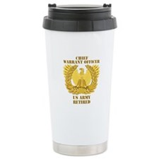 Army - Emblem - CWO Retired Ceramic Travel Mug