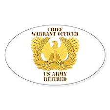 Army - Emblem - CWO Retired Decal