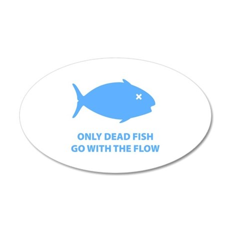 Go With The Flow 38.5 x 24.5 Oval Wall Peel