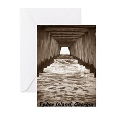 Tybee Island Georgia peir 6 Greeting Cards (Pk of