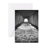 Tybee Island Georgia peir 3 Greeting Cards (Pk of