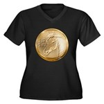 Year of the Horse Women's Plus Size V-Neck Dark T-