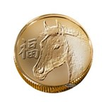 "Year of the Horse 3.5"" Button"