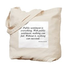 Abraham Lincoln quote 83 Tote Bag