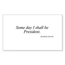 Abraham Lincoln quote 84 Rectangle Decal