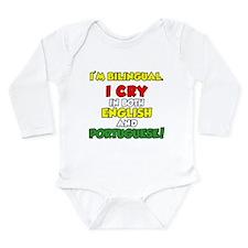 I'm Bilingual Cry Portuguese Long Sleeve Infant Bo