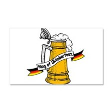 King of Oktoberfest Car Magnet 20 x 12