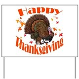 Happy Thanksgiving Yard Sign