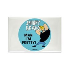 Johnny Bravo Man I'm Pretty Rectangle Magnet (10 p