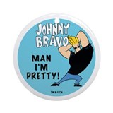 Johnny Bravo Man I'm Pretty Ornament (Round)