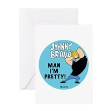Johnny Bravo Man I'm Pretty Greeting Card