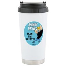 Johnny Bravo Man I'm Pretty Ceramic Travel Mug