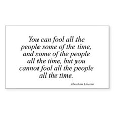 Abraham Lincoln quote 127 Rectangle Decal