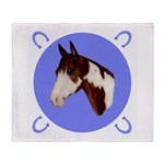 Paint Horse Throw Blanket