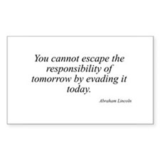 Abraham Lincoln quote 129 Rectangle Decal