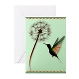 Dandelion and Little Green Hu Greeting Cards (Pk o