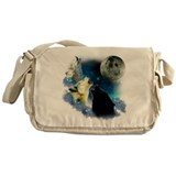 New Wolfs moon 2 Fractal Messenger Bag