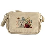 Westie Terrier in the Garden Messenger Bag