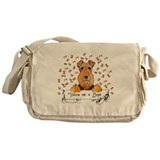 Welsh Terrier Bones Messenger Bag