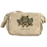 Yorkshire Terrier Puppies! Messenger Bag