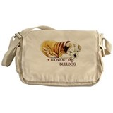 I LOVE MY BULLDOG Messenger Bag