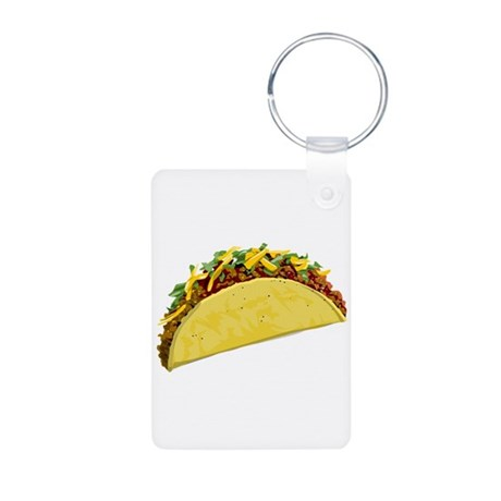 Taco Aluminum Photo Keychain