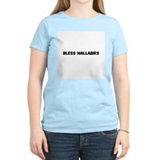 Bless Wallabies Women's Pink T-Shirt
