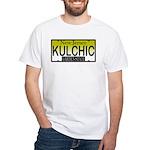 KULCHIC NJ Vanity Plate White T-Shirt