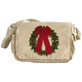 Holly Wreath Messenger Bag