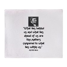 EMERSON - WHAT LIES WITHIN US. Throw Blanket
