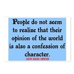 EMERSON - CHARACTOR QUOTE Postcards (Package of 8)