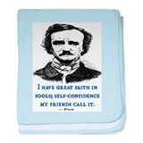 POE FOOL QUOTE baby blanket