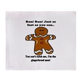 GINGERBREAD MAN! Throw Blanket