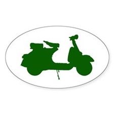 Green Vespa Sillouette Decal