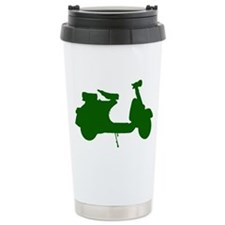 Green Vespa Sillouette Travel Mug