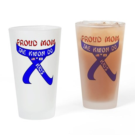 TKD Mom Kids Drinking Glass