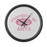 Property of Amya Large Wall Clock