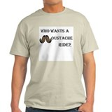 Moustache Ride -blk Ash Grey T-Shirt