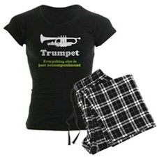 Gift For Trumpet Player Women's Dark Pajamas