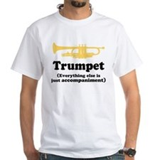 Funny Trumpet Gift White T-Shirt
